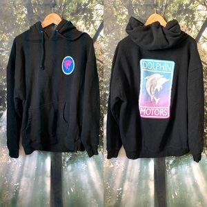 🔥Pink Dolphin Motors Hoodie Sweatshirt L men EUC